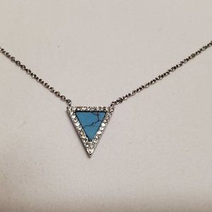 Michael Kors Turquoise triangle necklace